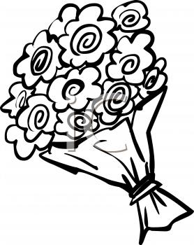 Free download best on. Bouquet clipart line art