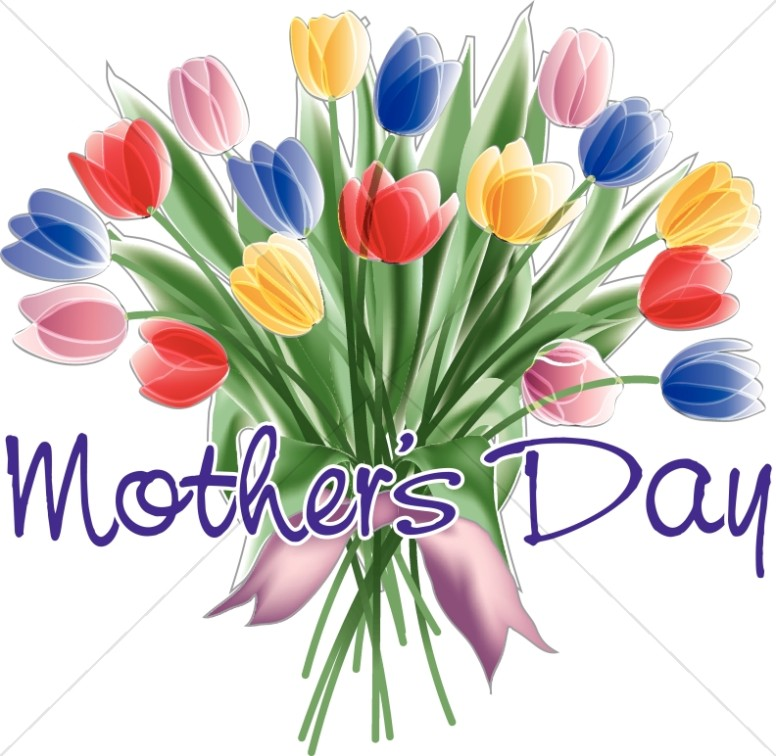 Bouquet flower borders. Bible clipart mothers day