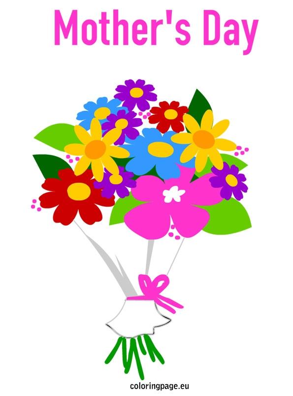 Bouquet clipart mothers day. Flower flowers pinterest
