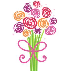 Bouquet clipart mothers day. Flowers clip art