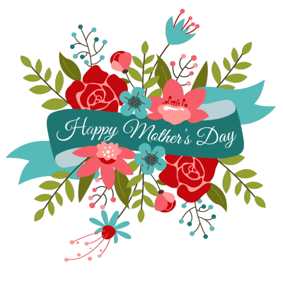 Happy transparent mother s. Bouquet clipart mothers day