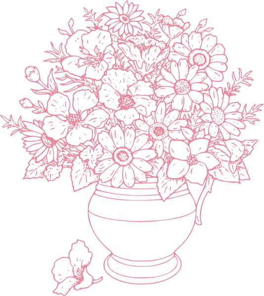Of flowers clip art. Bouquet clipart outline