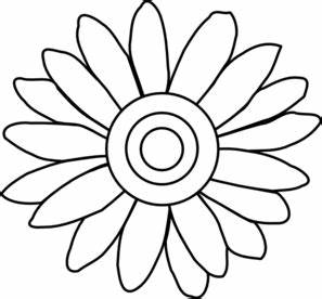 Bouquet clipart outline. Of flower clip art