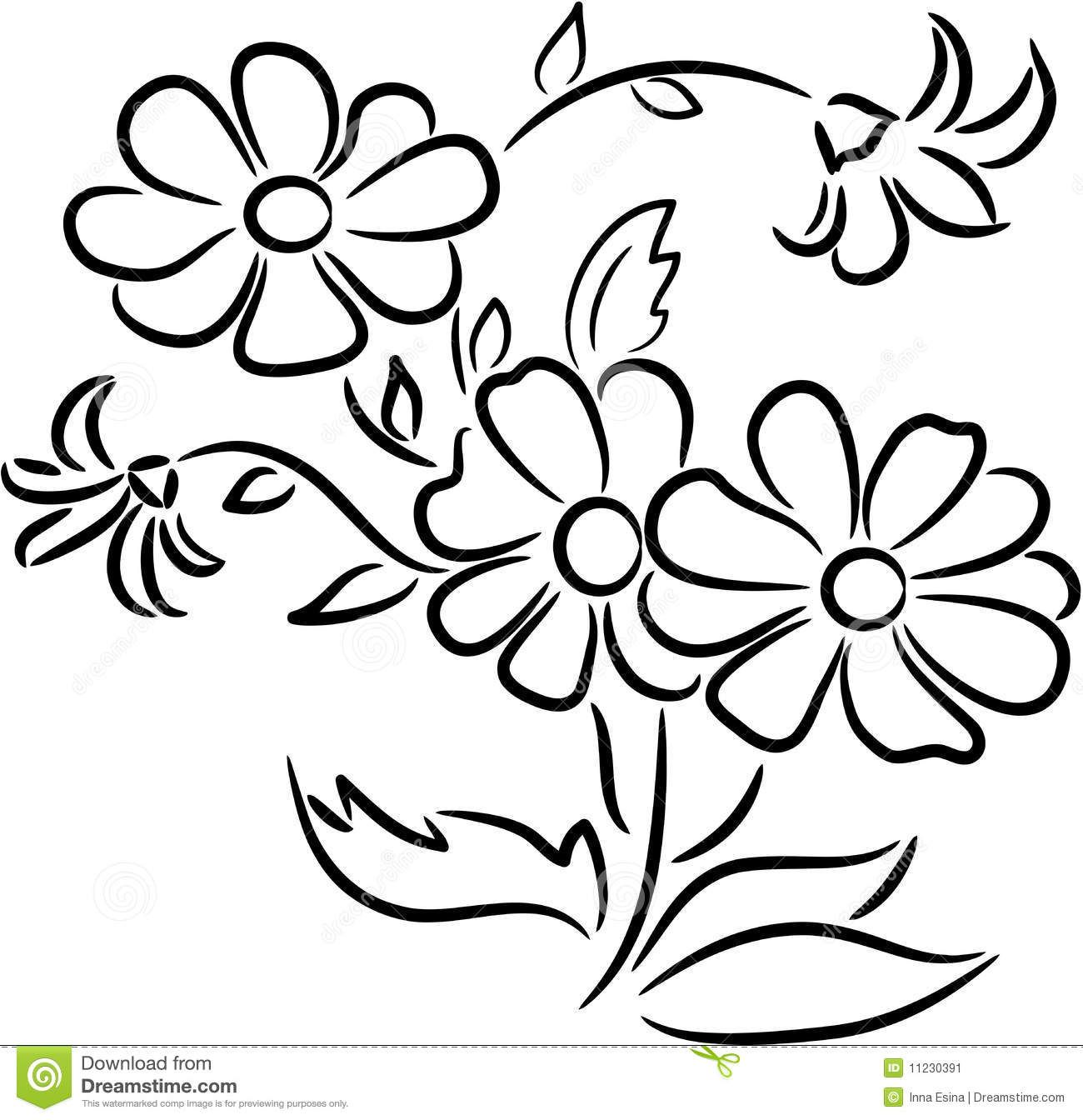 Image result for flower. Bouquet clipart outline