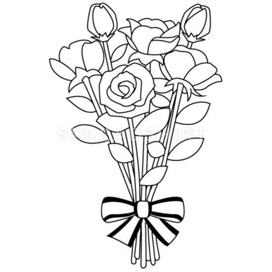 Flower mouse pad horizontal. Bouquet clipart outline