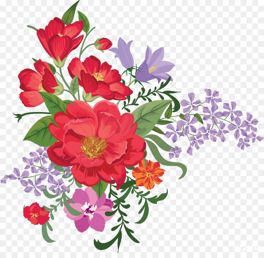 Bouquet clipart pretty flower. Of flowers drawing png