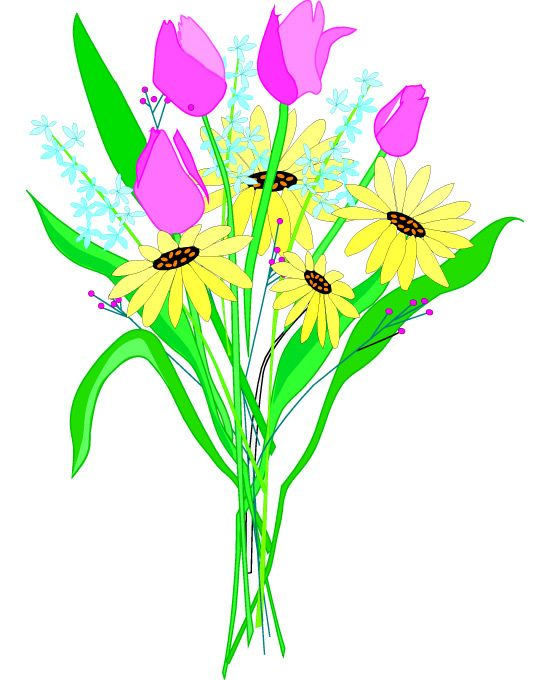 Clip art of bouquets. Bouquet clipart pretty flower