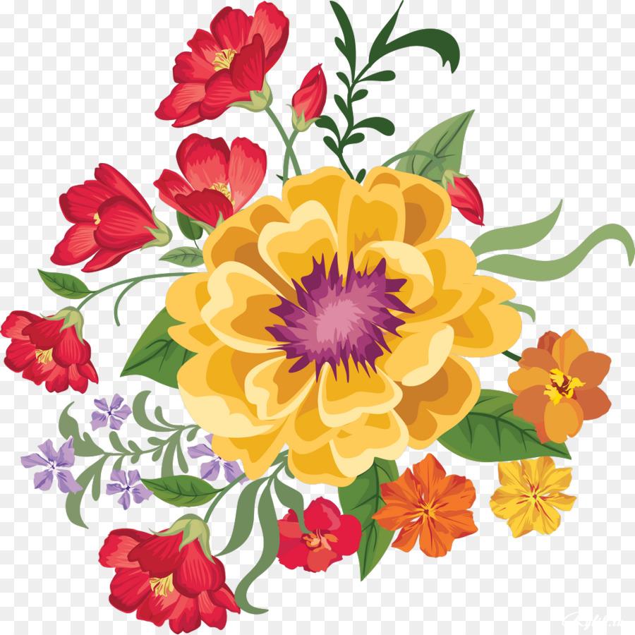 Download free png clip. Bouquet clipart pretty flower