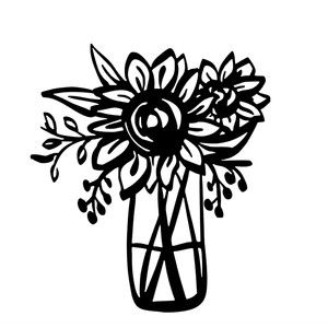 Flower designs at getdrawings. Bouquet clipart silhouette