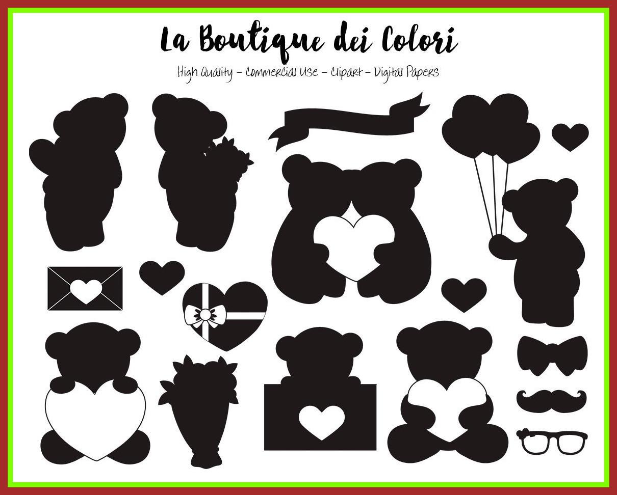 Unbelievable valentine u day. Bouquet clipart silhouette