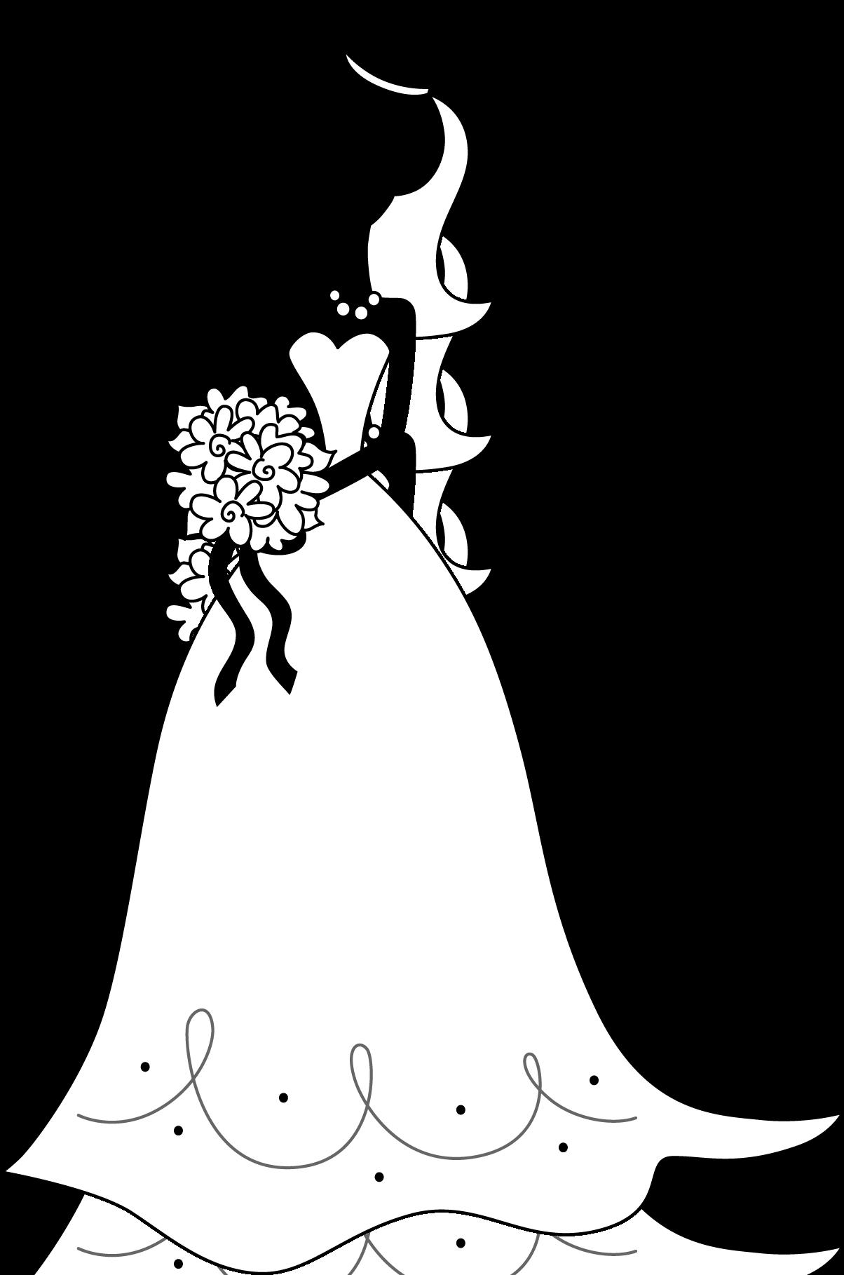 Bouquet clipart silhouette. Bride with freeimagebuttonjpg