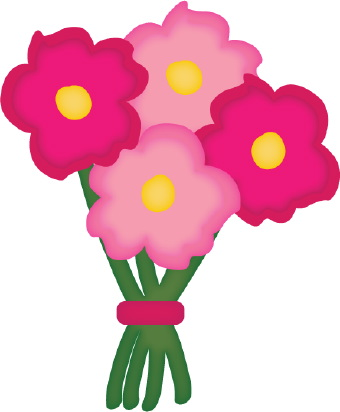 Of flowers . Bouquet clipart simple bouquet