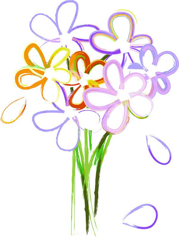 Clip art of flower. Bouquet clipart simple bouquet
