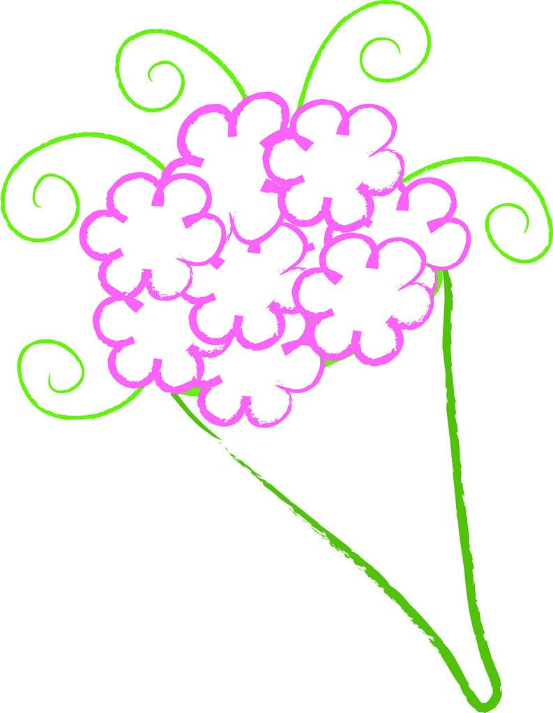 Bouquet clipart simple bouquet. Clip art illustration of
