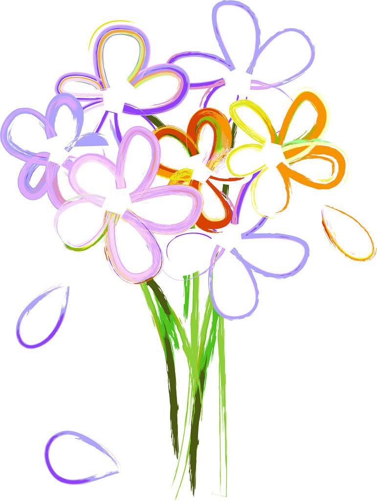 Clip art illustration of. Bouquet clipart simple bouquet