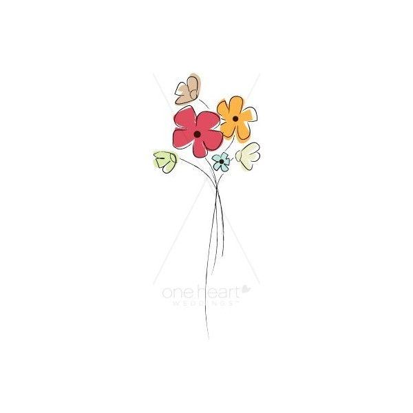 Cheery accent flower found. Bouquet clipart simple bouquet