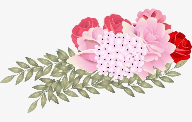 Bouquet clipart spring. Hand painted watercolor flower