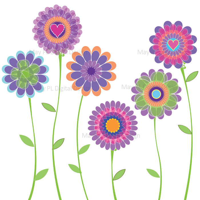 Bouquet clipart spring. Free printable