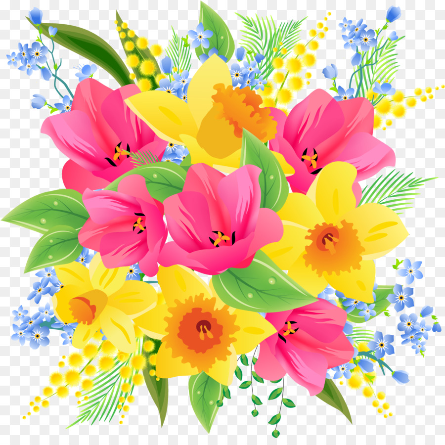 Bouquet clipart spring. Flower clip art flowers