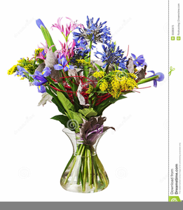 Bouquet clipart spring flower bouquet. Free images at clker