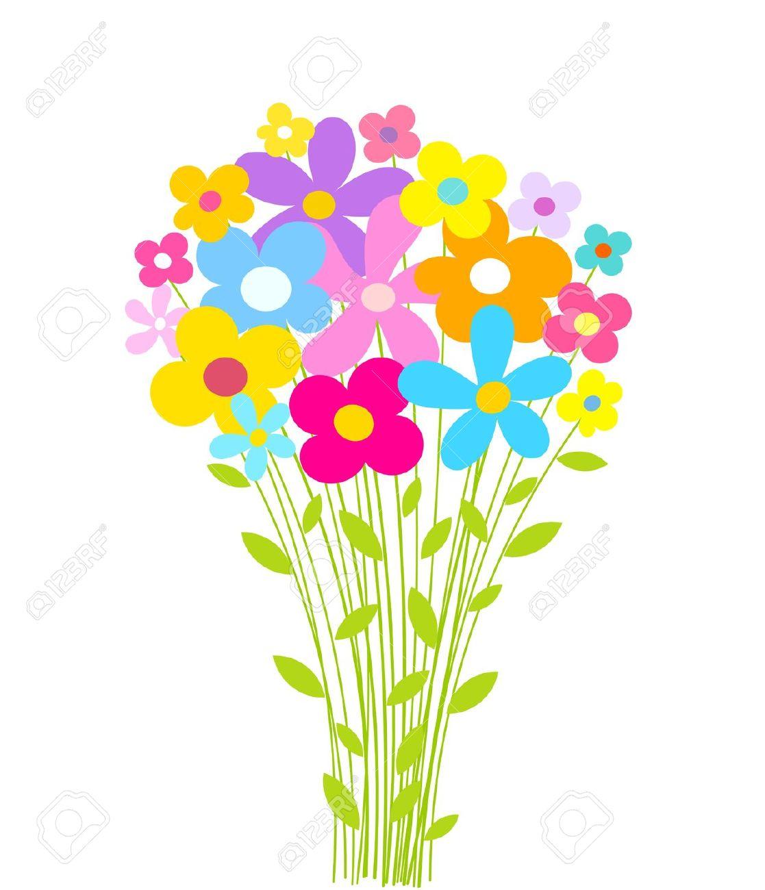 Bouquet clipart spring flower bouquet. Cute free