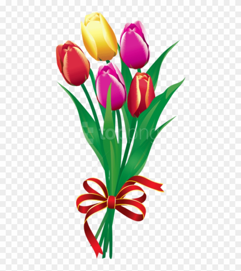 Free png tulips bouquetpicture. Bouquet clipart spring flower bouquet