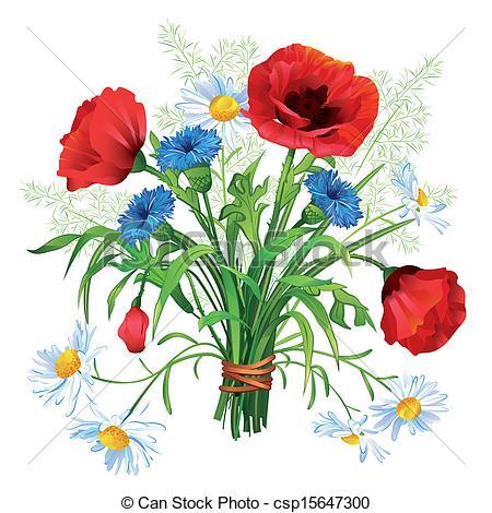. Bouquet clipart summer