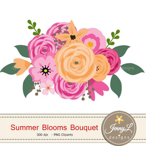 Bouquet clipart summer.  off flower pink