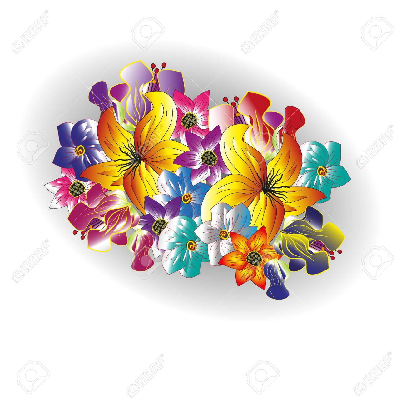 Bouquet clipart summer flower. Drawing at getdrawings com