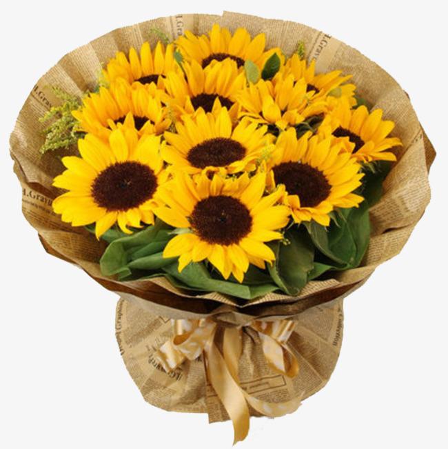Bouquet clipart sunflower bouquet. Fine png image and