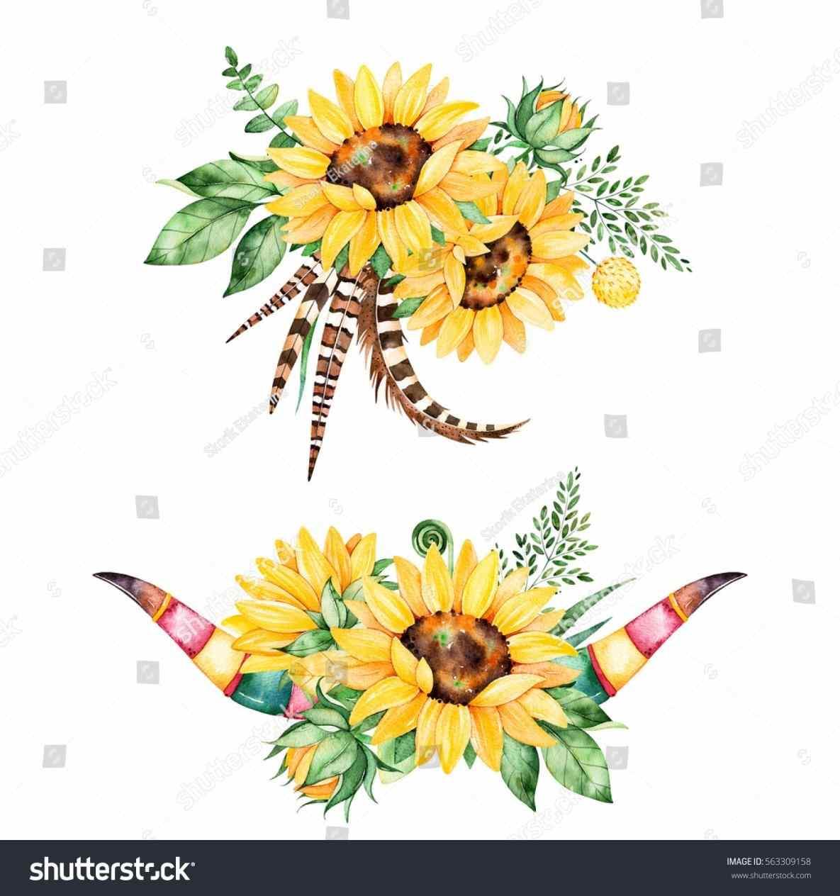 Color transparent background sunflowers. Bouquet clipart sunflower bouquet