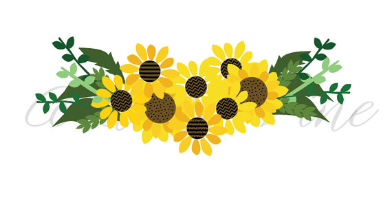 Bouquet clipart sunflower bouquet. Svg fall floral perennial