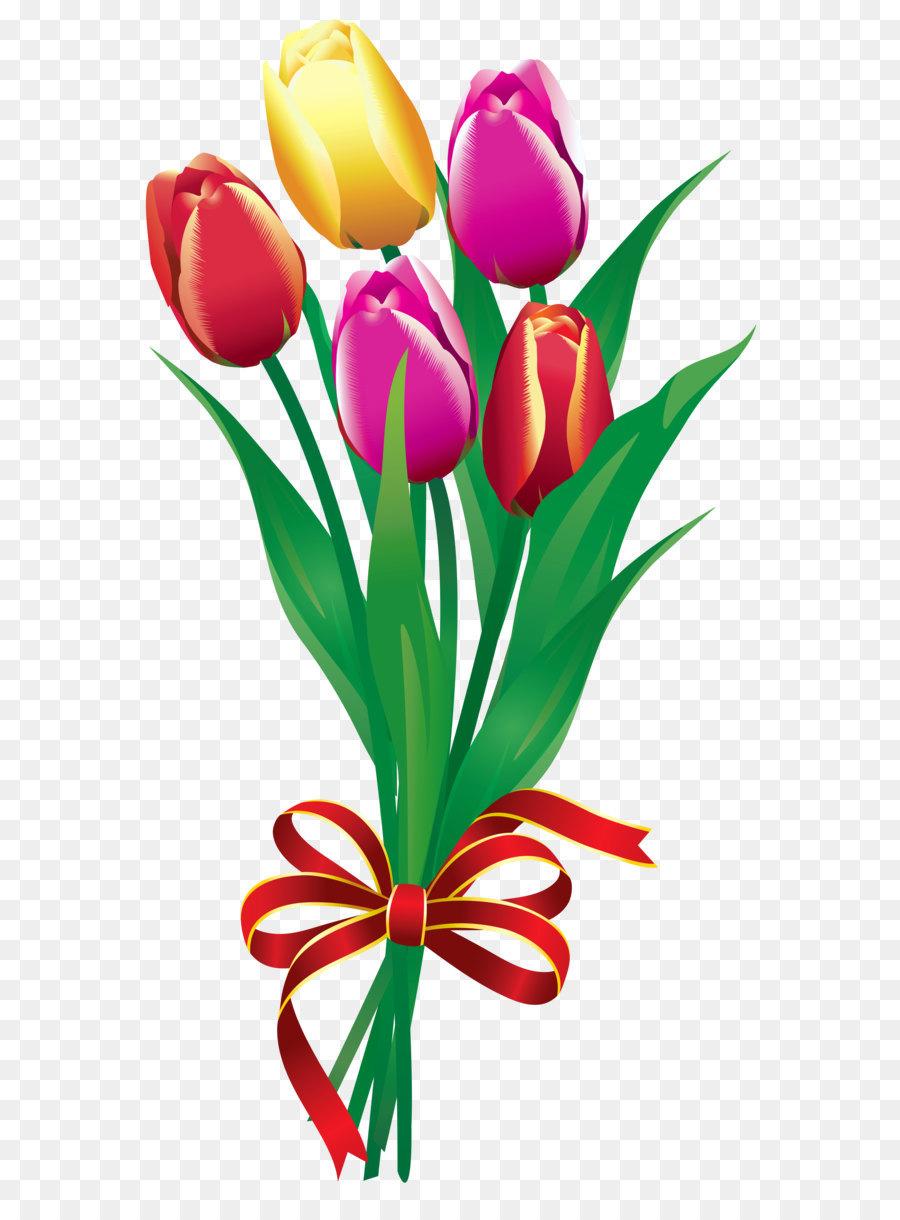Bouquet clipart tulip. Flower clip art spring