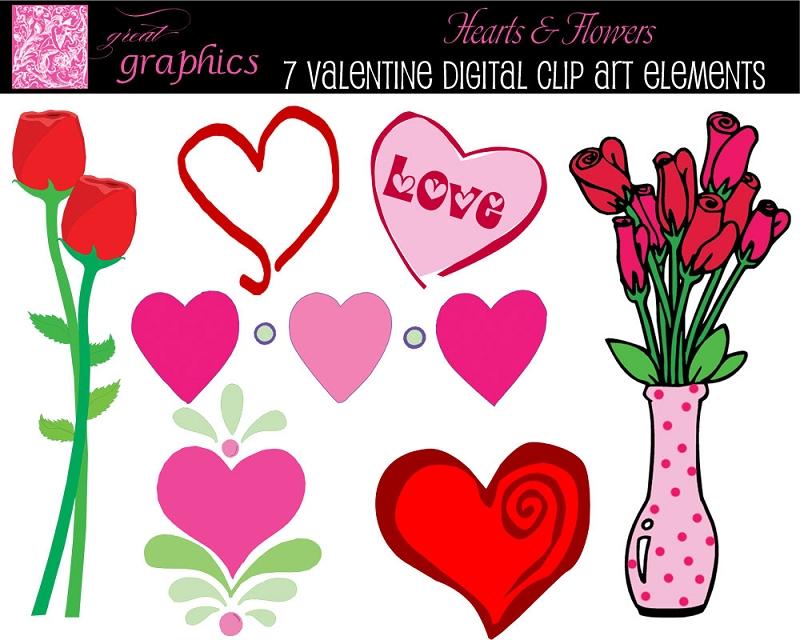 Bouquet clipart valentine. Flowers clip art s