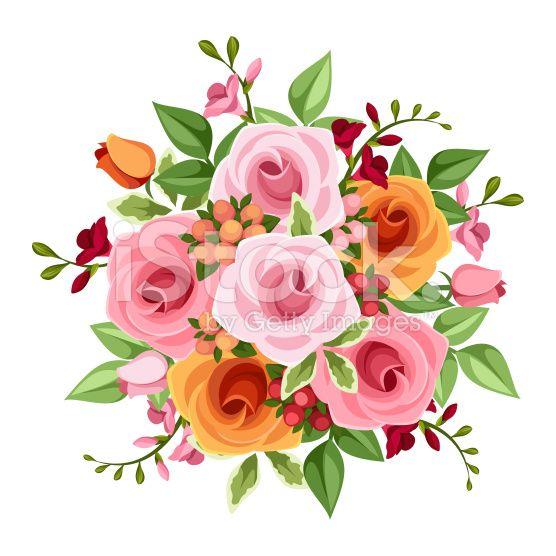 Bouquet clipart vector flower. Http i istockimg com