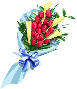 Bouquet clipart vector flower. Free of and graphics