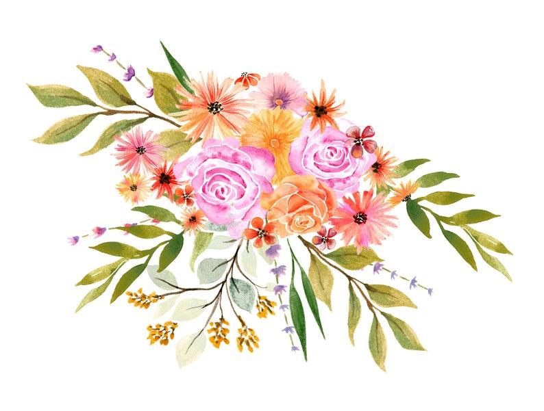 bouquet clipart watercolor
