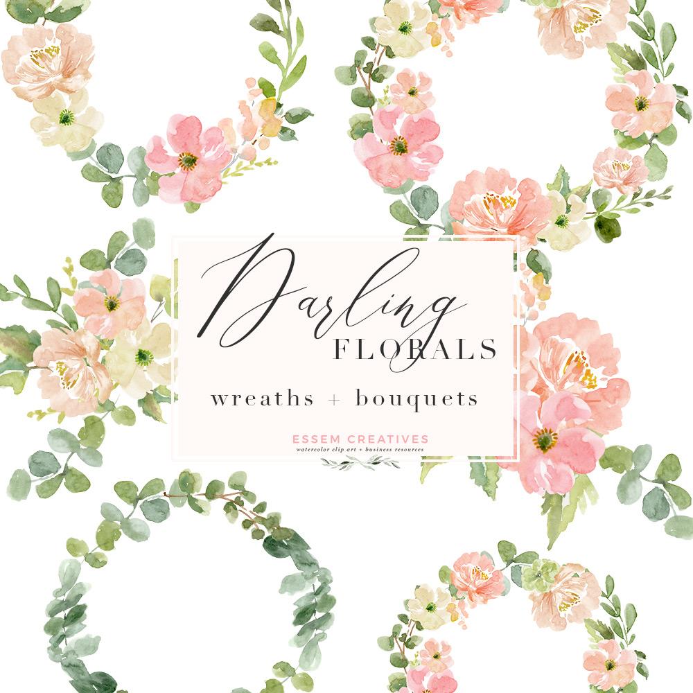 Bouquet clipart watercolor. Wreath png flowers background