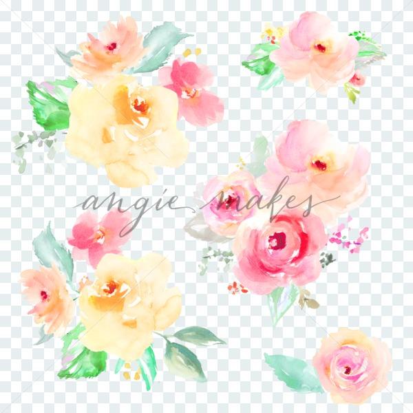Bouquet clipart watercolor. Flower clip art angie