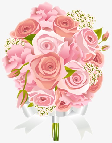 Married bouquets of roses. Bouquet clipart wedding bouquet