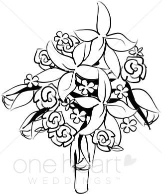 Bouquet clipart wedding bouquet. Bridal flower