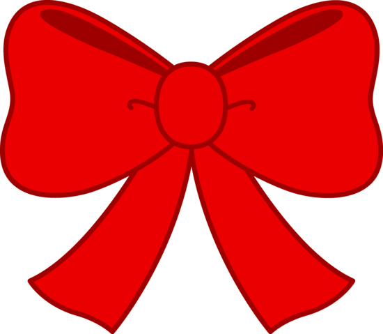 Cute red free clip. Bow clipart
