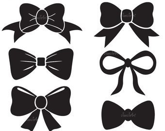Bow clipart. Svg etsy tie file