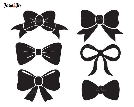 Bow clipart. Tie svg file vector