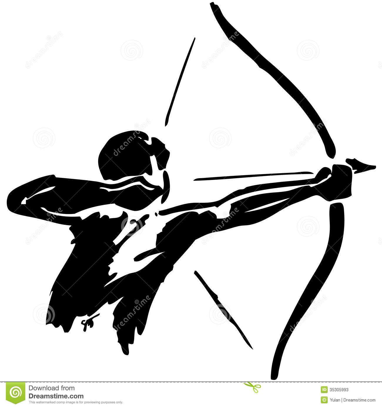 Archer clipart. Archery stock illustrations vectors