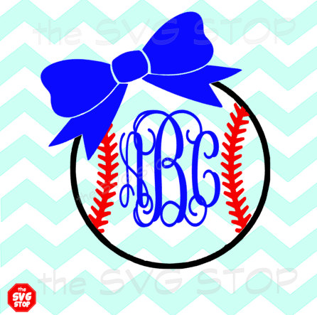 Bows clipart baseball. Or softball with bow