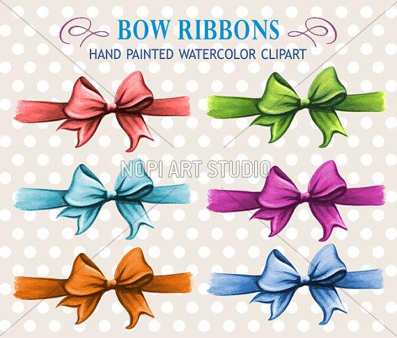 Clip art set gift. Bows clipart birthday