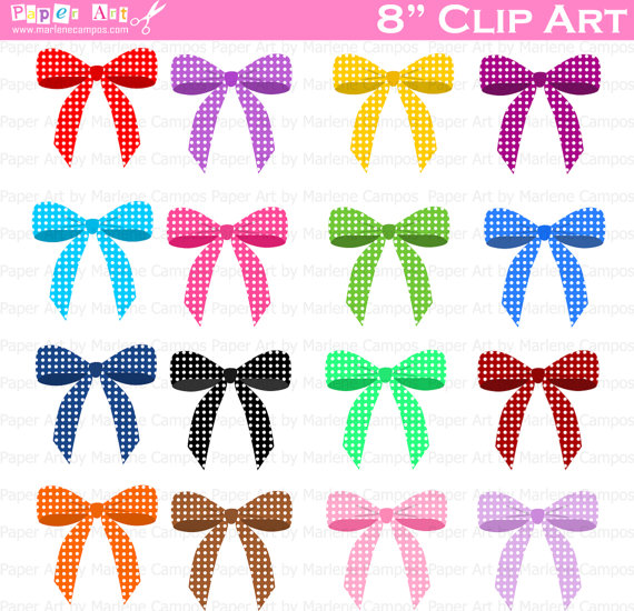 Bows clipart birthday. Clip art polka dots