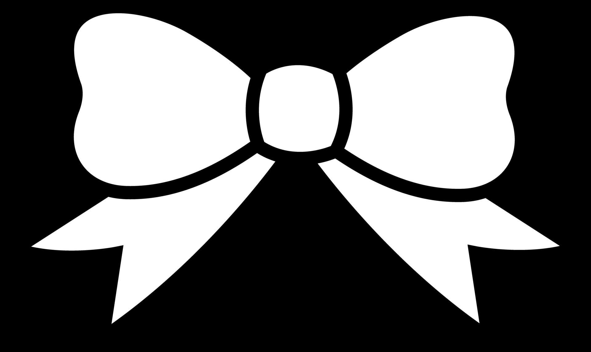 Bows clipart black and white. Hair bow clip art