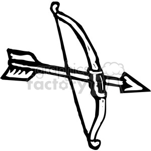 Bow clipart black and white. Royalty free arrow vector